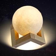 LED Moonlight Nachtlicht m. 3D Mond Printing Beleuchtungsdekoration Eaxus