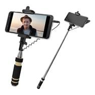 Selfiestick Mini mit Kabelauslöser und 60 cm Teleskopfunktion, Metmaxx