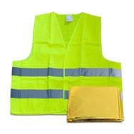 KFZ Warnweste, DIN EN ISO 20741, 100% Polyester m. Rettungsdecke Filmer