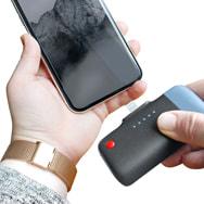 Power Bank Clip System U400 für iPhones, 2.600 mAh Lithium-Ion, Emtec
