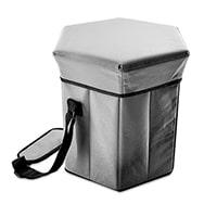 Kühltasche mit Picknickhocker, 2-in-1 Camping Auststattung m. Tragegurt