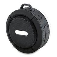 Wireless Bluetooth Lautsprecher m. Saugnapf schwarz, wasserdicht, Eaxus