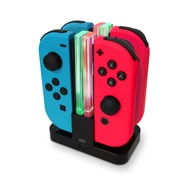 Ladestation 4-in-1 für Nintendo Switch Joy-Cons, LED Beleuchtung Eaxus
