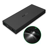 Powerbank PB-N27 mit 16.000 mAh, 2 USB Outputs und Taschenlampe Aukey