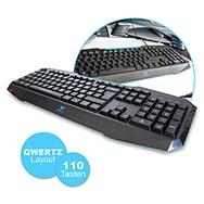 USB Gaming Tastatur Expert auf Deutsch m. rutschfester Oberfläche Aula