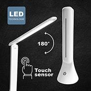 COB LED Tischlampe mit 200 Lumen und Touchsensor, klappbar Heitech