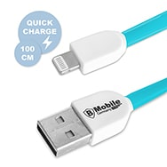 Highspeed USB Ladekabel für iPhone 11 in Blau, 100 cm, BMobile Germany