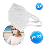 FFP2 Atemschutzmasken 2er Pack mit Zertifikat, KN95, gegen Viren, EN 149