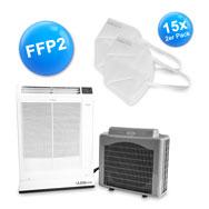 Split Klimaanlage, max. 4,0 kW, inkl. 15x 2er Set FFP2, KN95 Schutzmasken