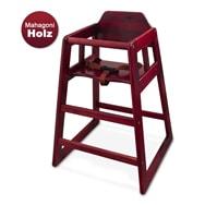 Winco Baby-Hochstuhl Kindersitz aus Mahagoni Holz mit Sicherheitsgurt