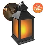 LED Laterne mit flackernder Flammenoptik, flexibler Aufhängering Eaxus