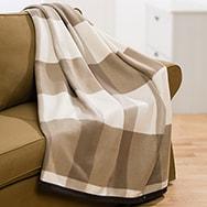 Kuschelwohnmantel und Heimdecke, flauschig mit Ärmeln 100% Polyester