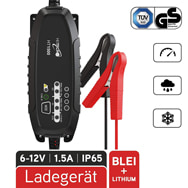 KFZ Batterieladegerät HT1500 für 6V/12V Blei u. 12,8V Lithium Heitech