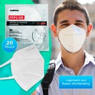 FFP2 Mund-Nasenmasken 20er nach EN149 zertifiziert, Atemschutz