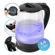 Glas Wasserkocher mit 2,0 Liter, 1.800 Watt, kabelgebunden, Easy&Sweet Life