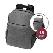 """Rucksack für 15"""" Laptops und Tablets, aus Polyester in Grau, 18 L, Hoss"""