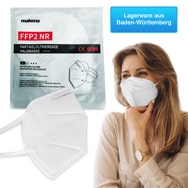 zertifizierte FFP2 NR Atemmaske Mundschutz, partikelfiltrierend EN 149:2001+A1:2009