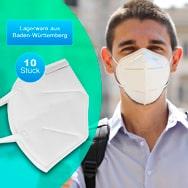 Zertifizierte Premium FFP2 Schutzmasken 10er Pack CE 2163 gegen Viren