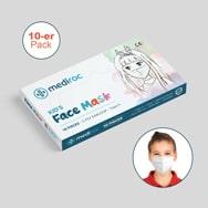 Medizinische Kinderschutzmasken 10er-Pack, EN14683 zertifiziert, Mediroc