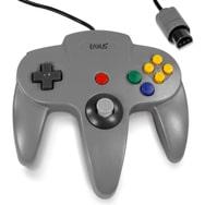 Controller für Nintendo 64 / N64, Grau, Retro Look Gamepad, Eaxus
