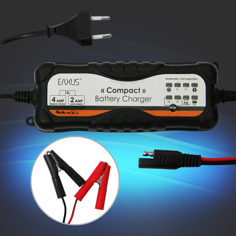 fully automatic car battery charger for 6v and 12v lead and gel eaxus