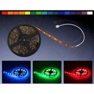 SMD LED Leiste 5 Meter RGB Streifen mit Farbwechsel, IR-Fernbedienung, Eaxus