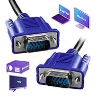 VGA Kabel 1,8m Anschluss von PC und Notebook an Monitor oder TV Eaxus