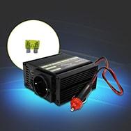 Stromumwandler / Spannungswandler / Steckdose 12 Volt zu 220Volt, 150 Watt EAXUS